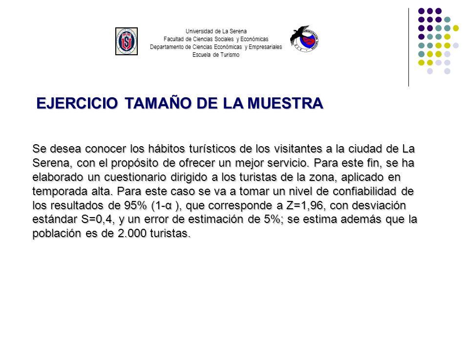 EJERCICIO TAMAÑO DE LA MUESTRA