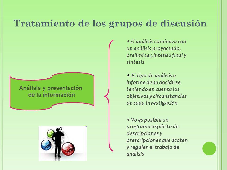 Tratamiento de los grupos de discusión