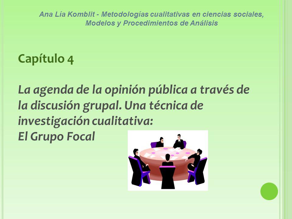 Ana Lía Komblit - Metodologías cualitativas en ciencias sociales, Modelos y Procedimientos de Análisis