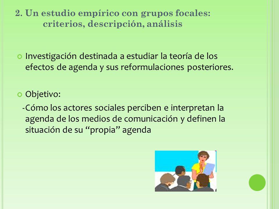 2. Un estudio empírico con grupos focales: