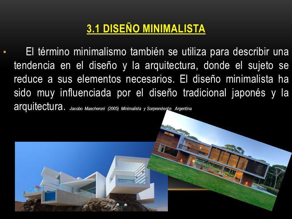 3.1 DISEÑO MINIMALISTA