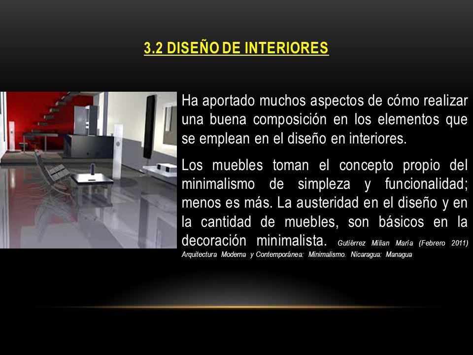 3.2 DISEÑO DE INTERIORES