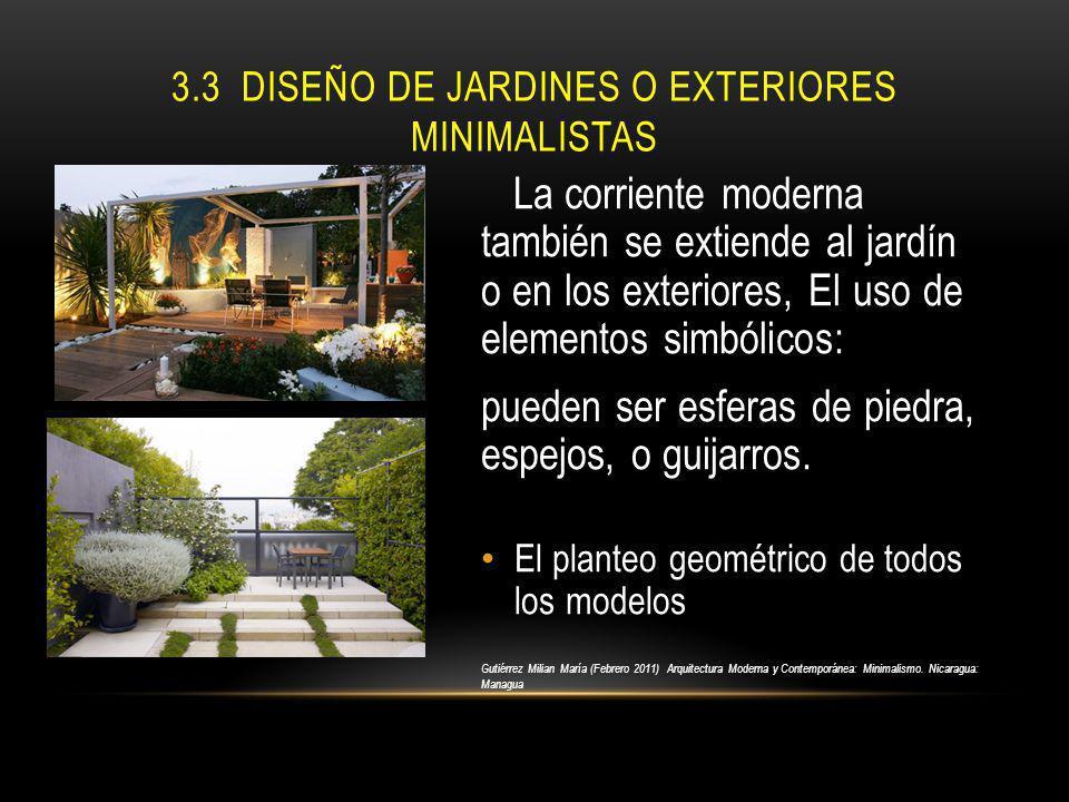 3.3 Diseño de jardines o exteriores minimalistas