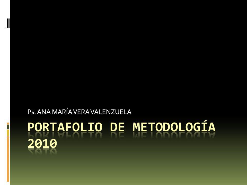 PORTAFOLIO DE METODOLOGÍA 2010