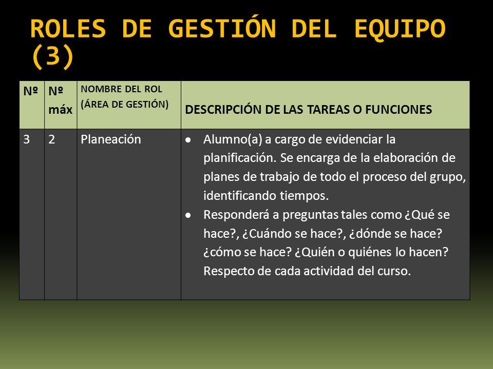 ROLES DE GESTIÓN DEL EQUIPO (3)