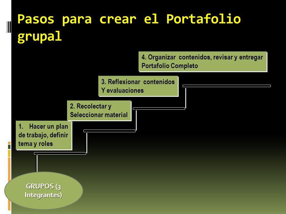 Pasos para crear el Portafolio grupal