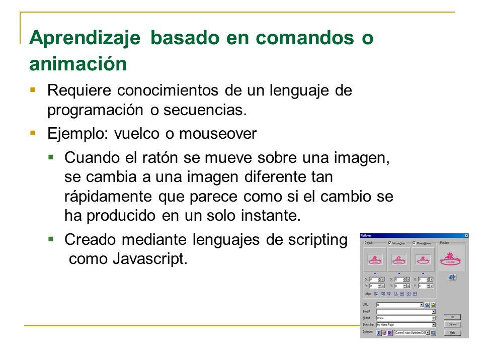 Aprendizaje basado en comandos o animación