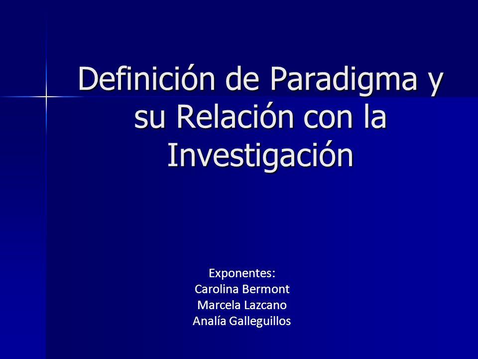 Definición de Paradigma y su Relación con la Investigación