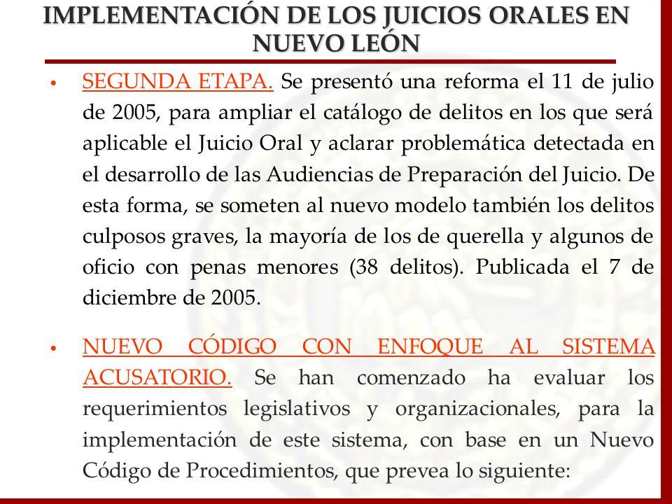 IMPLEMENTACIÓN DE LOS JUICIOS ORALES EN NUEVO LEÓN