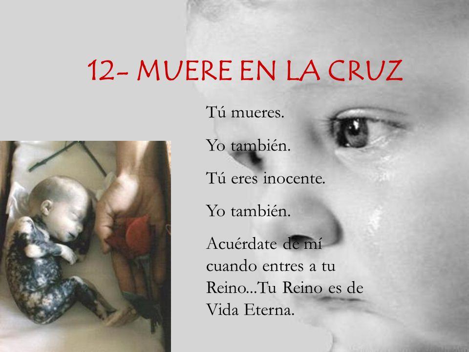 12- MUERE EN LA CRUZ Tú mueres. Yo también. Tú eres inocente.
