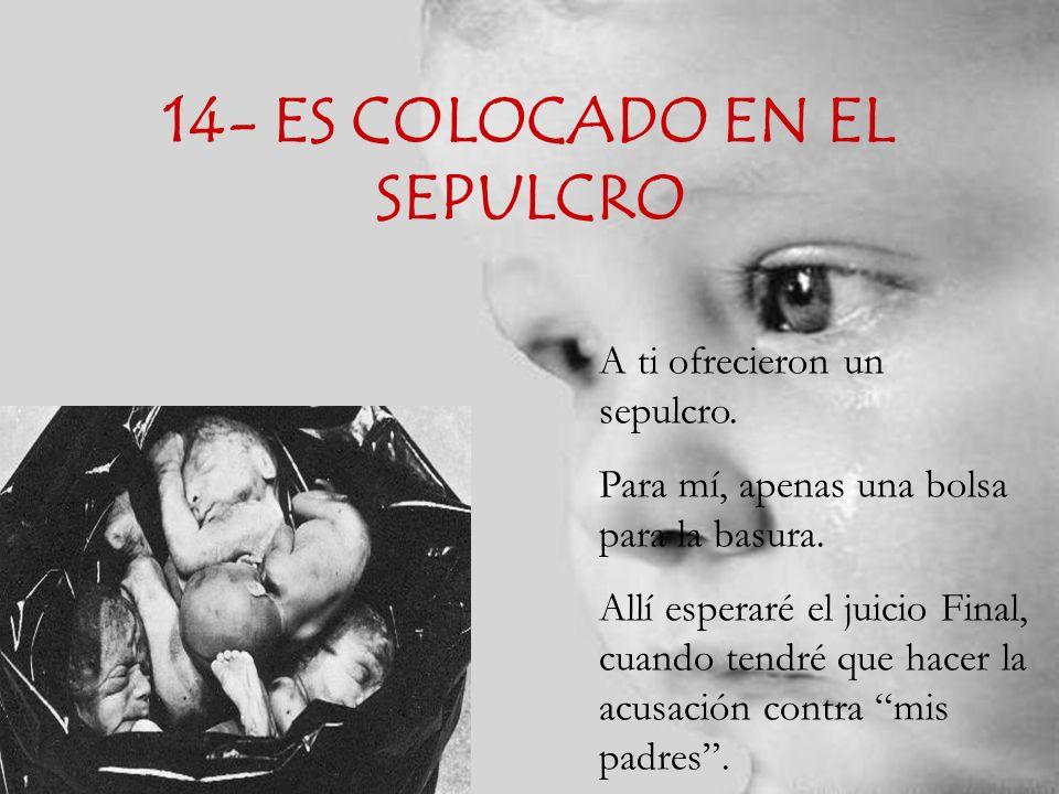 14- ES COLOCADO EN EL SEPULCRO
