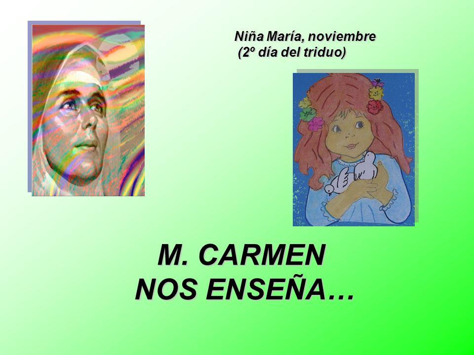 Niña María, noviembre (2º día del triduo)