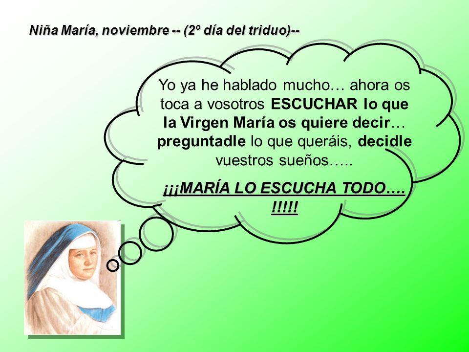 ¡¡¡MARÍA LO ESCUCHA TODO…. !!!!!