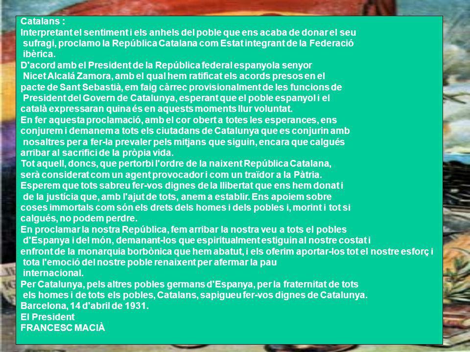Catalans : Interpretant el sentiment i els anhels del poble que ens acaba de donar el seu.