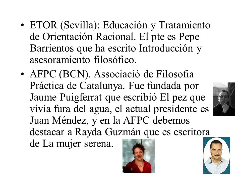 ETOR (Sevilla): Educación y Tratamiento de Orientación Racional