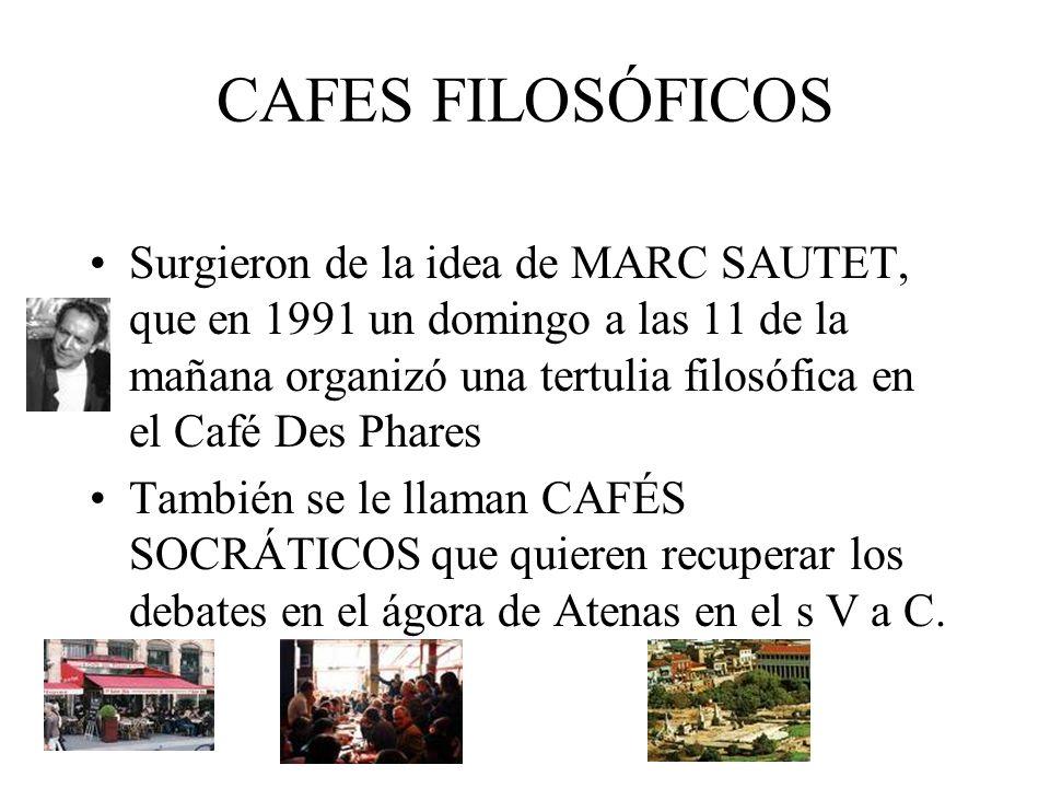 CAFES FILOSÓFICOS