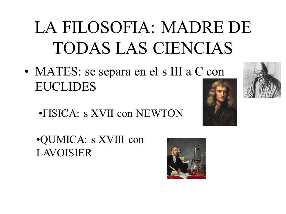 LA FILOSOFIA: MADRE DE TODAS LAS CIENCIAS