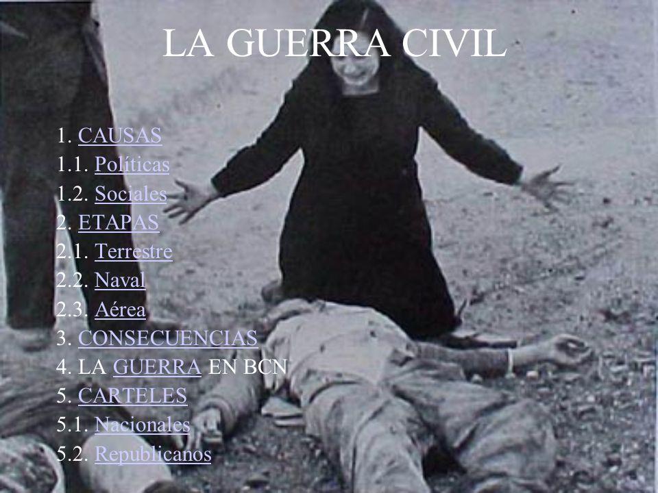 LA GUERRA CIVIL 1. CAUSAS 1.1. Políticas 1.2. Sociales 2. ETAPAS