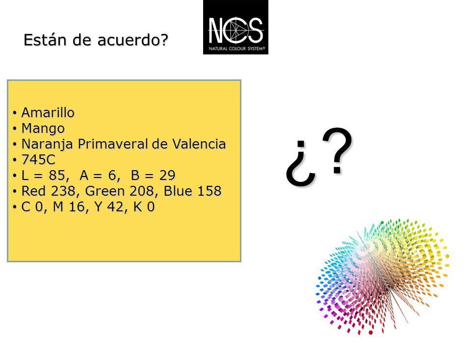 ¿ Están de acuerdo Amarillo Mango Naranja Primaveral de Valencia