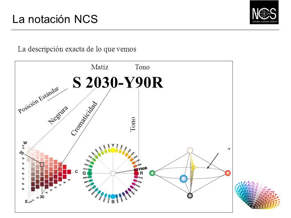 S 2030-Y90R La notación NCS La descripción exacta de lo que vemos