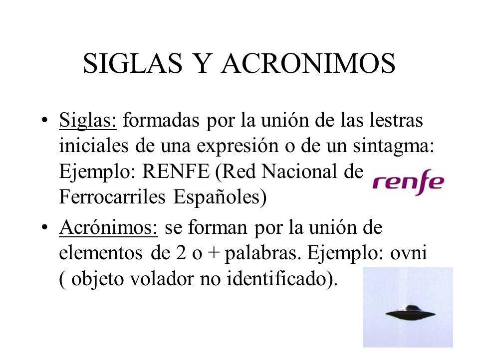 SIGLAS Y ACRONIMOS