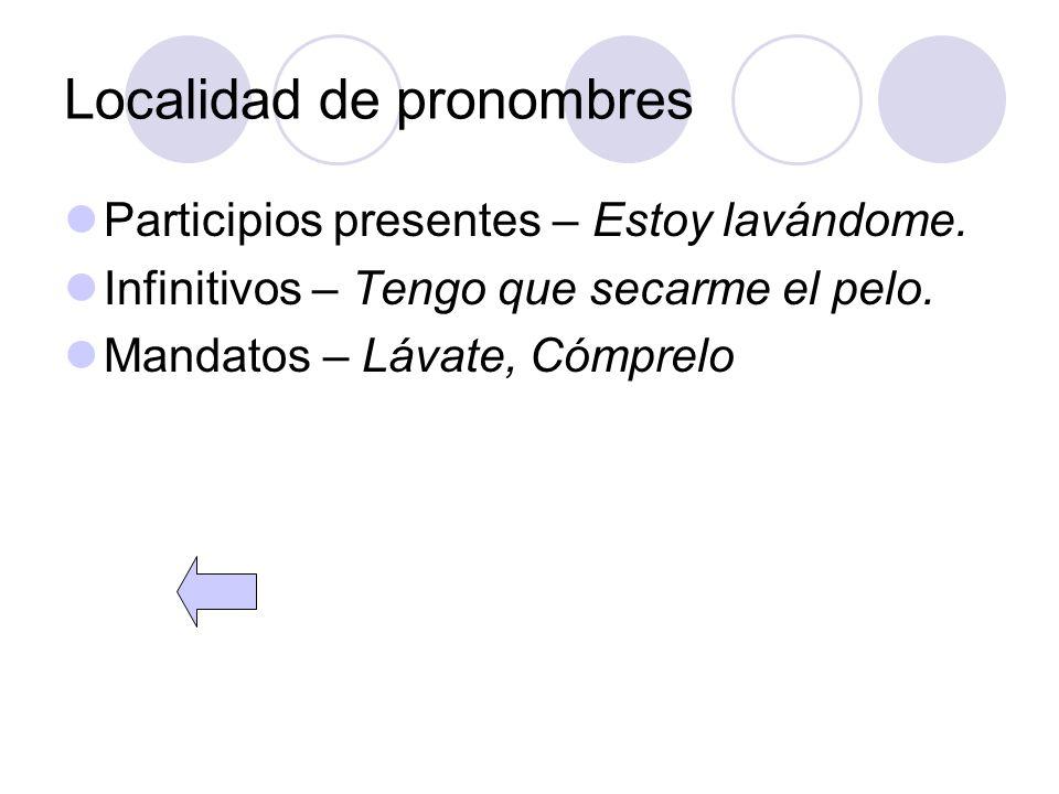 Localidad de pronombres