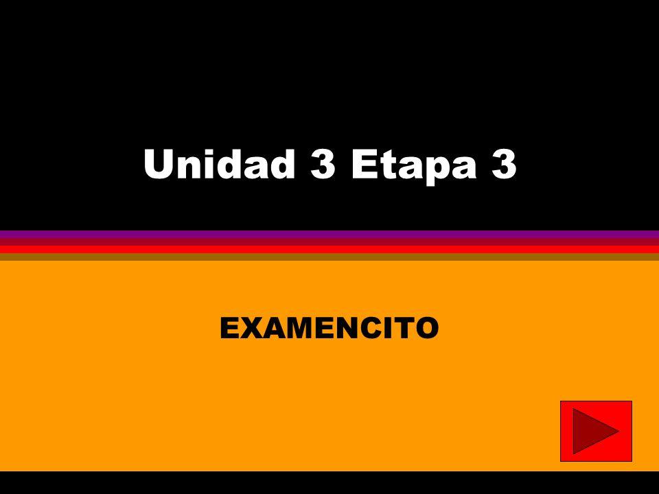 Unidad 3 Etapa 3 EXAMENCITO