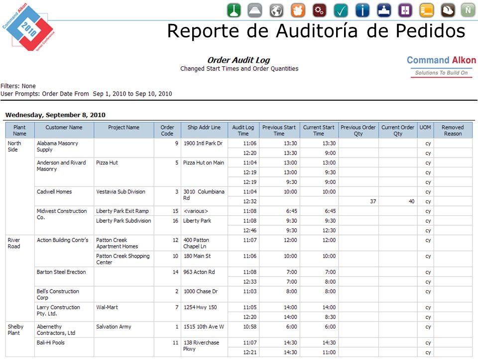 Reporte de Auditoría de Pedidos