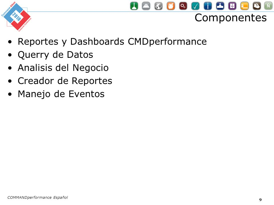 Componentes Reportes y Dashboards CMDperformance Querry de Datos