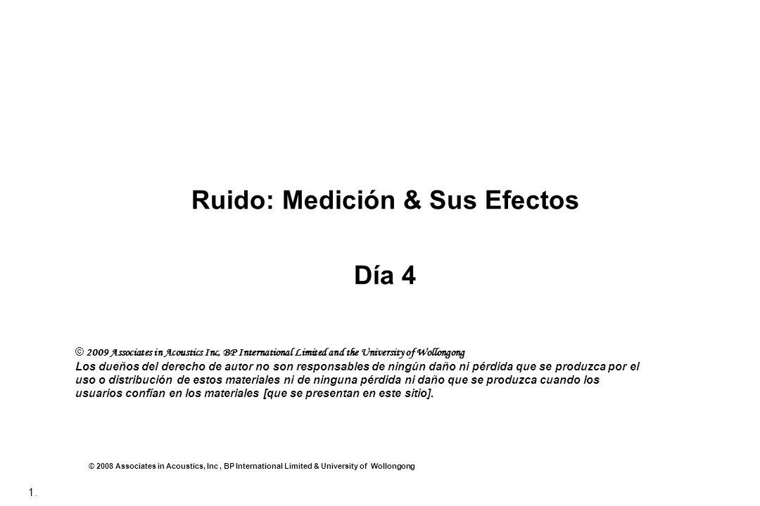 Ruido: Medición & Sus Efectos