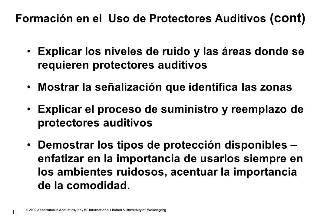 Formación en el Uso de Protectores Auditivos (cont)