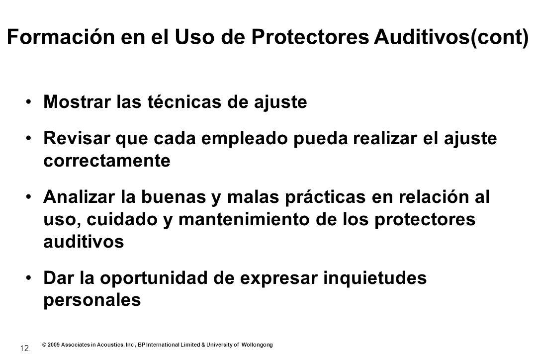 Formación en el Uso de Protectores Auditivos(cont)