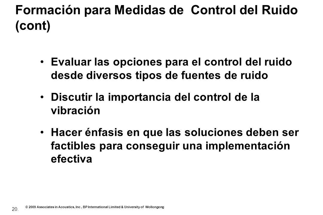 Formación para Medidas de Control del Ruido (cont)