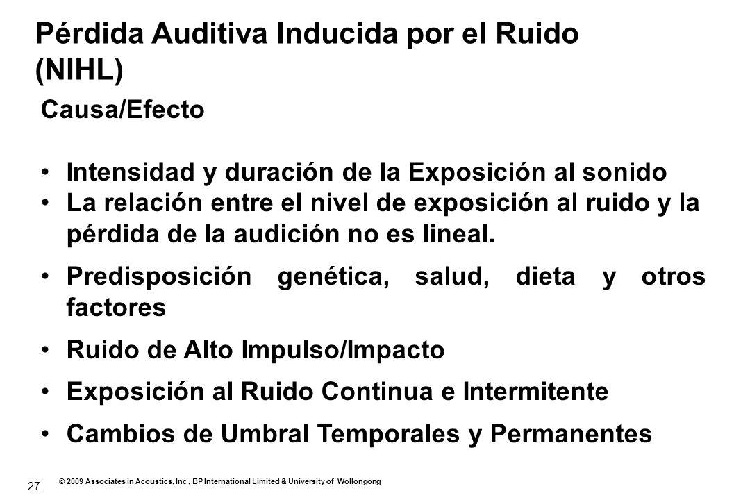Pérdida Auditiva Inducida por el Ruido (NIHL)