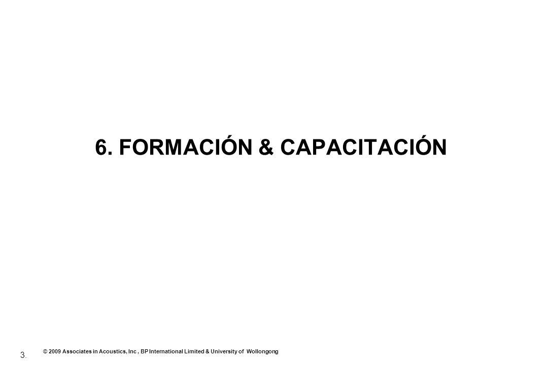 6. FORMACIÓN & CAPACITACIÓN