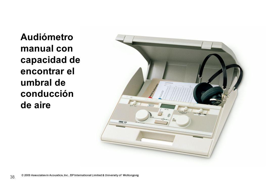 Audiómetro manual con capacidad de encontrar el umbral de conducción de aire