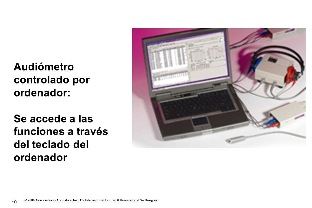 Audiómetro controlado por ordenador: