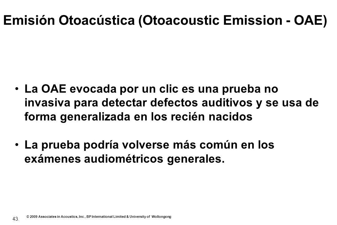 Emisión Otoacústica (Otoacoustic Emission - OAE)