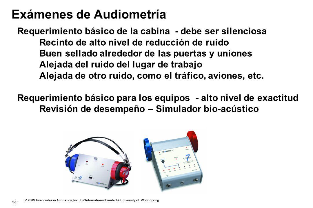 Exámenes de Audiometría