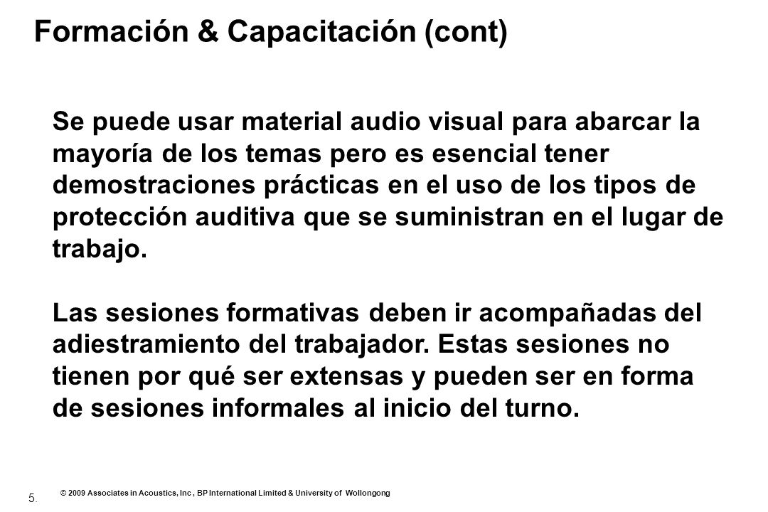 Formación & Capacitación (cont)