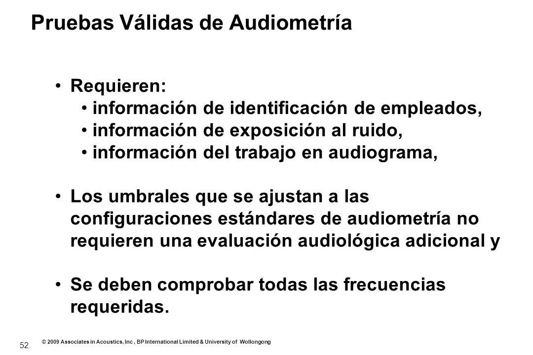 Pruebas Válidas de Audiometría