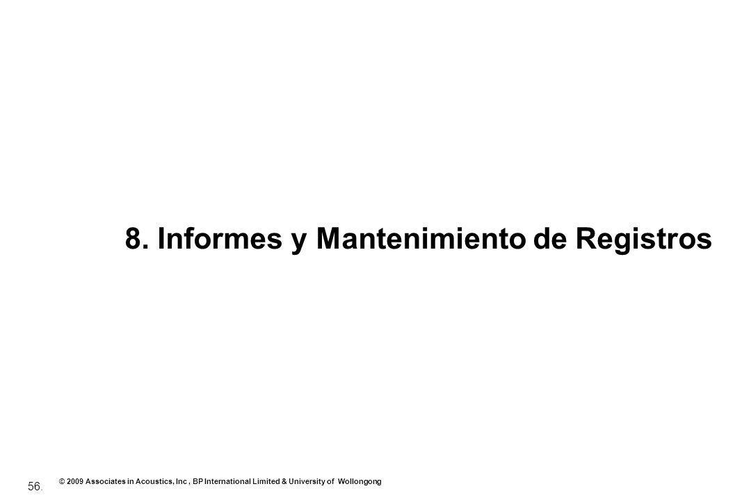8. Informes y Mantenimiento de Registros