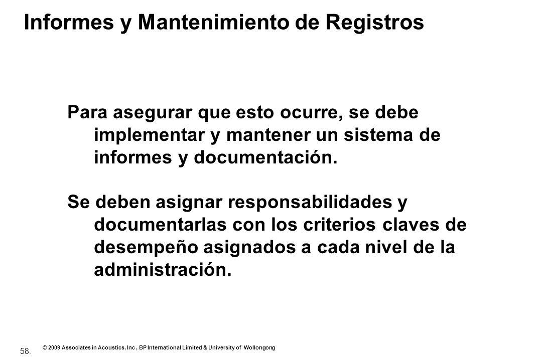 Informes y Mantenimiento de Registros