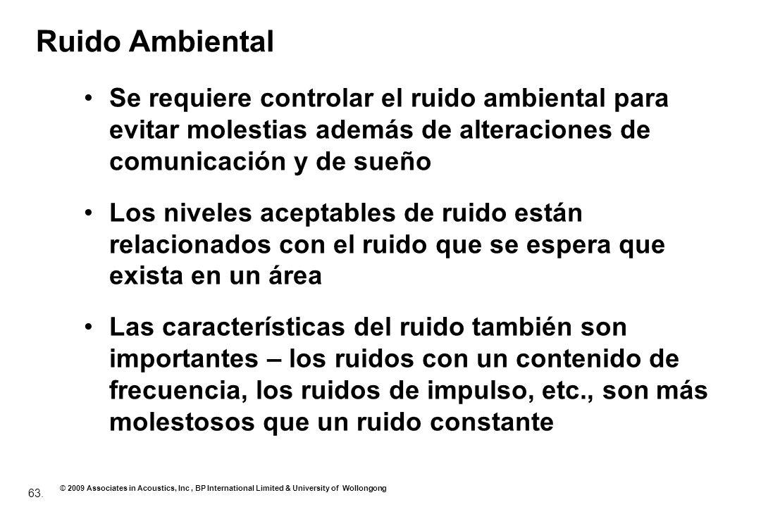Ruido Ambiental Se requiere controlar el ruido ambiental para evitar molestias además de alteraciones de comunicación y de sueño.