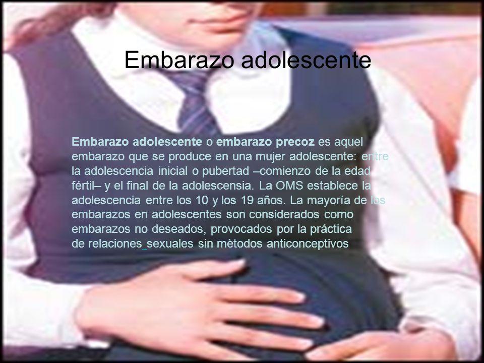 Embarazo adolescente Embarazo adolescente