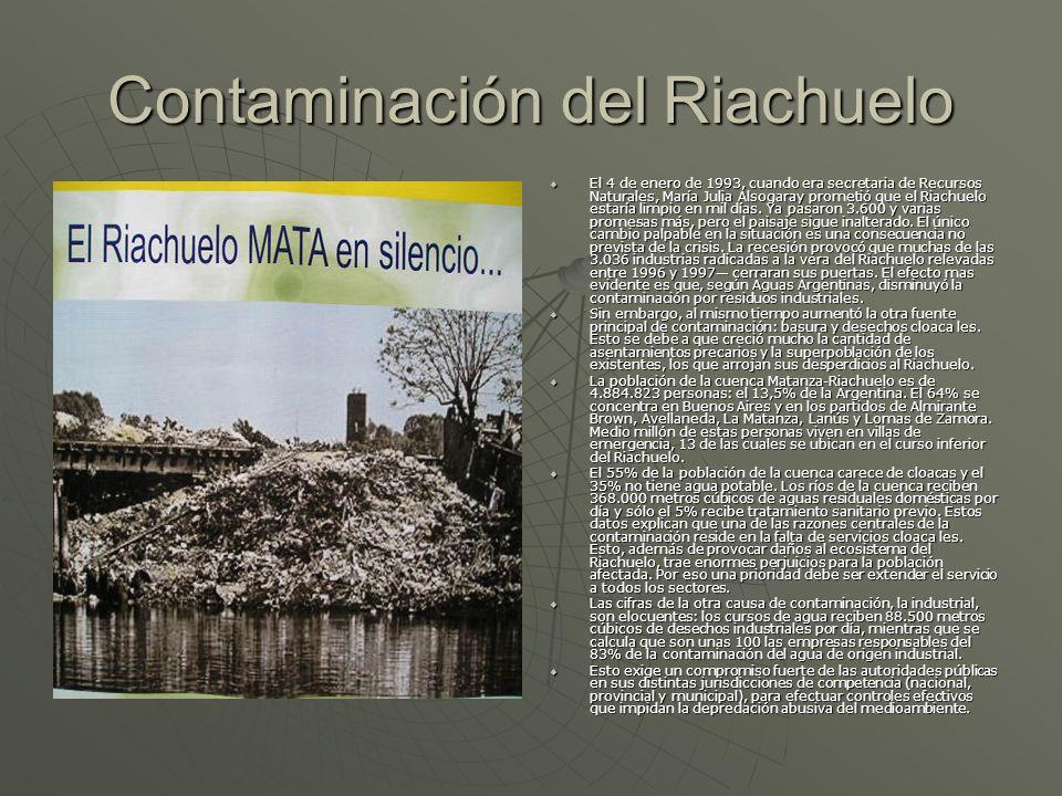 Contaminación del Riachuelo