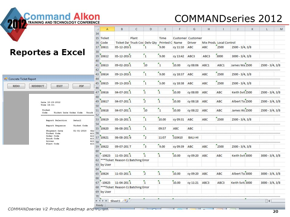 COMMANDseries 2012 Reportes a Excel