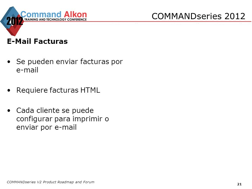 COMMANDseries 2012 E-Mail Facturas