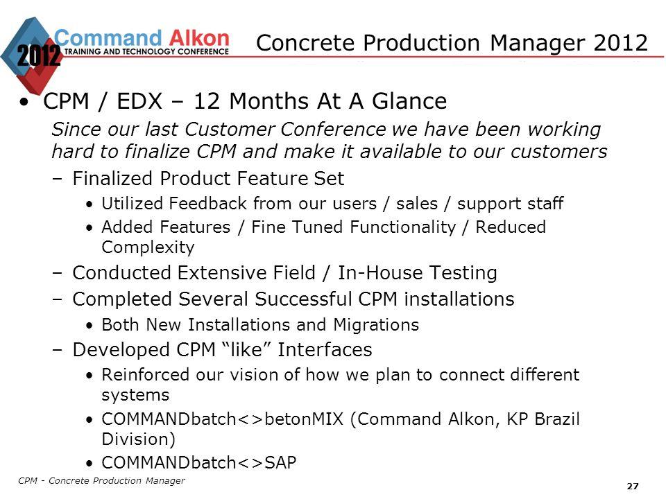 Concrete Production Manager 2012