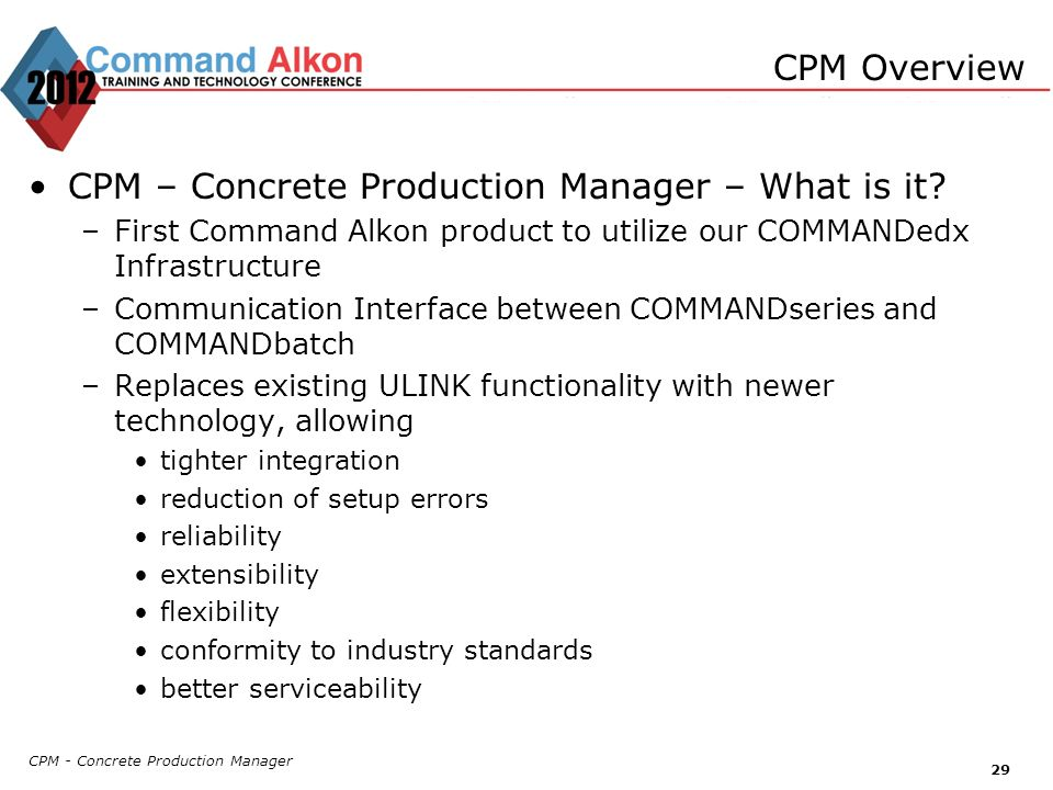 CPM – Concrete Production Manager – What is it